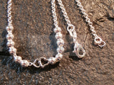 Silver Anklet with 6 Heart Charms ANC040 Jinsted