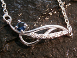 Silver Anklet with Blue Pendant ANC042 Jinsted