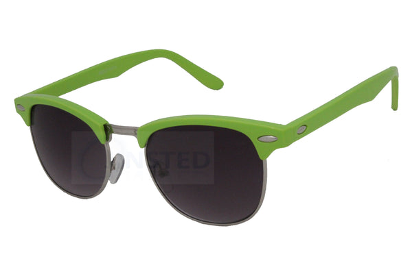 Adult Green Frame Clubmaster Sunglasses Tinted Lens
