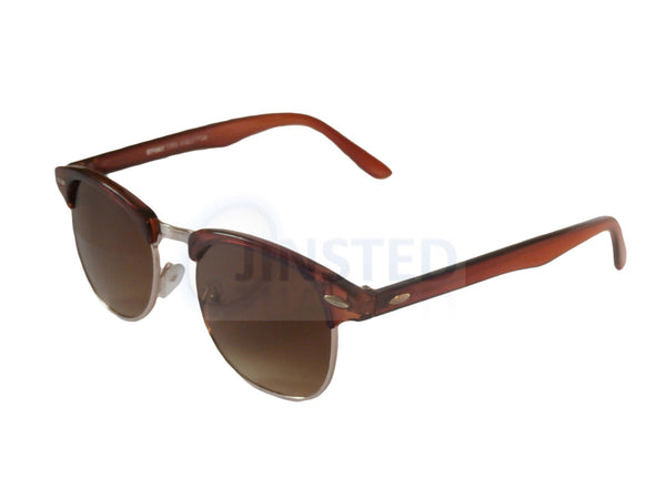 Brown Frame Clubmaster Sunglasses Tinted Lens AR009 Jinsted
