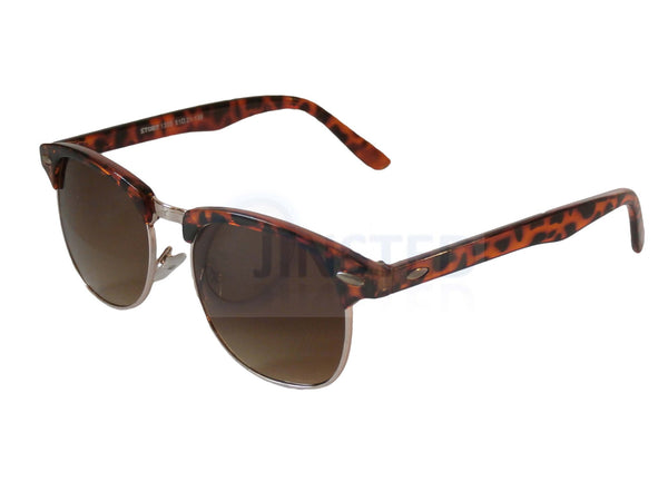 Adult Sunglasses, Adult Leopard Print Frame Clubmaster Sunglasses Tinted Lens, Jinsted
