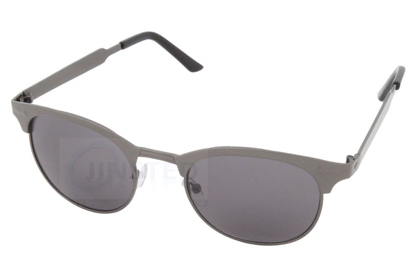 Adult Grey Frame Clubmaster Sunglasses Tinted Lens