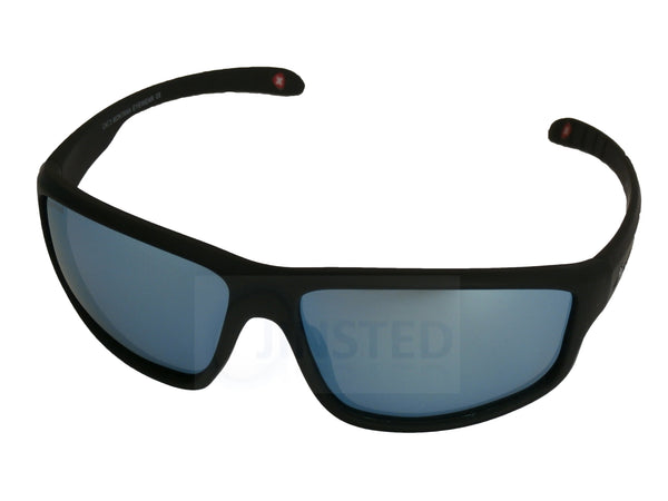 Adult Sunglasses, Premium Quality Black Sports Sunglasses with Polarised Light Blue Lens, Jinsted