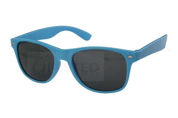 Adult Light Blue Frame Dark Tinted Unisex Sunglasses
