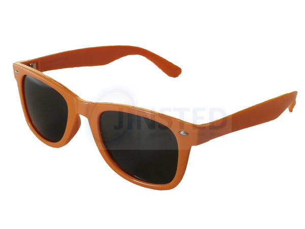 Adult Sunglasses, Adult Orange Frame Sunglasses Black Tinted Lens, Jinsted