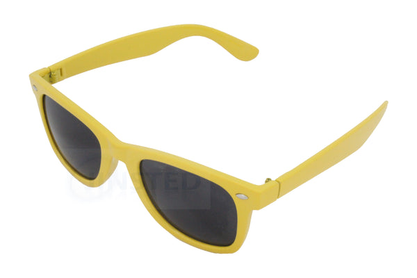 Adult Yellow Frame Wayfarer Sunglasses Black Tinted Lens AW007 Jinsted
