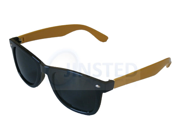 Adult Sunglasses, Adult Black and Yellow Frame Sunglasses Tinted Lens, Jinsted