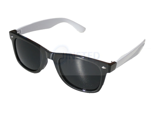 Adult Sunglasses, Adult Black and White Frame Sunglasses Tinted Lens, Jinsted