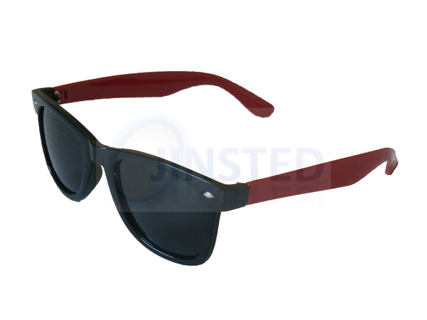Black and Red Frame Wayfarer Sunglasses Tinted Lens AW011 Jinsted