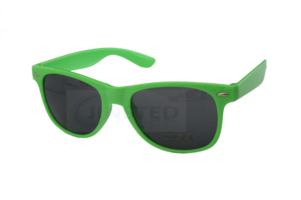 Adult Sunglasses, Adult Neon Green Frame Sunglasses Black Tinted Lens, Jinsted