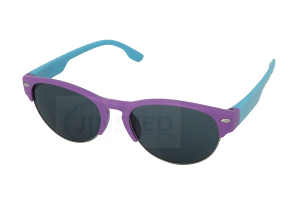 Purple and Blue Baby / Toddler Sunglasses Half Rimmed Frame - Jinsted