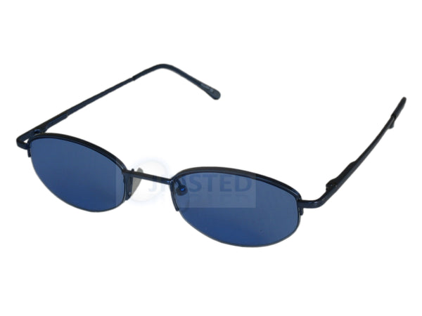 Adult Sunglasses, High Quality Adult Modern Sunglasses Blue Tinted Oval Lens Half Frame, Jinsted