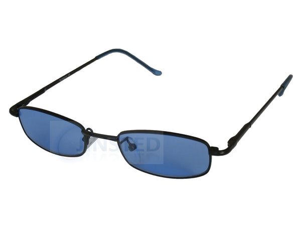 High Quality Adult Modern Sunglasses Blue Tinted Lens Dark Frame CL018 Jinsted
