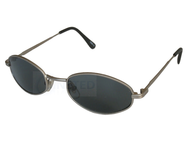 Adult Sunglasses, High Quality Adult Modern Sports Sunglasses Black Lens Silver Frame, Jinsted