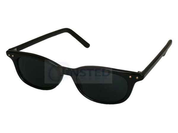 Adult Sunglasses, High Quality Adult Modern Sunglasses Black Tinted Oval Lens and Frame, Jinsted