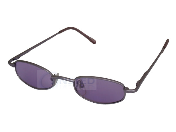 Adult Sunglasses, Small High Quality Adult Modern Sunglasses Purple Lens Silver Frame, Jinsted