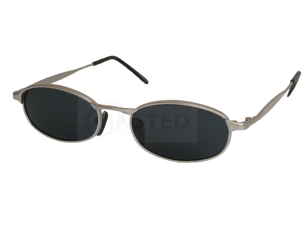 Adult Sunglasses, High Quality Adult Modern Sunglasses Dark Tinted Lens and Silver Frame, Jinsted