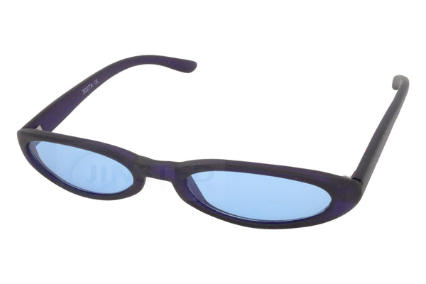 Adult High Quality Modern Sunglasses Blue Tinted Oval Lens