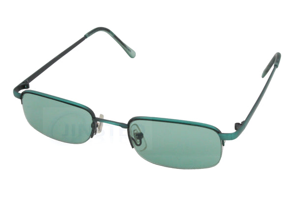 Adult High Quality Modern Sunglasses Green Tinted Lens and Frame - Jinsted