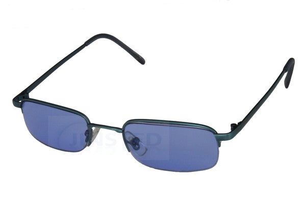 Adult Sunglasses, High Quality Adult Modern Sunglasses Blue Tinted Lens Half Frame, Jinsted