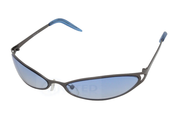 Adult High Quality Sunglasses Blue Tinted Wrap Around Sports Frame