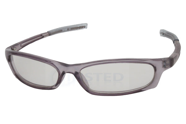 Adult High Quality Modern Sports Wrap Around Sunglasses Clear Grey Lens
