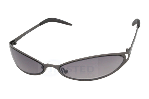 Adult High Quality Sunglasses Grey Tinted Wrap Around Sports Frame - Jinsted