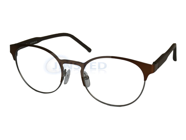 High Quality Luxury Swiss Designed Gold Round Glasses Frames. FR003. Jinsted