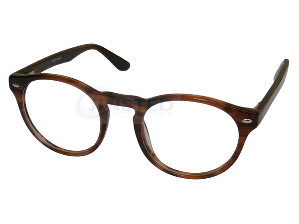 Glasses Frames, Luxury High Quality Leopard Print Swiss Designed Glasses Round Frames, Jinsted