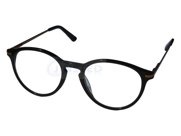 Glasses Frames, Luxury High Quality Brown Swiss Designed Glasses Round Frames, Jinsted