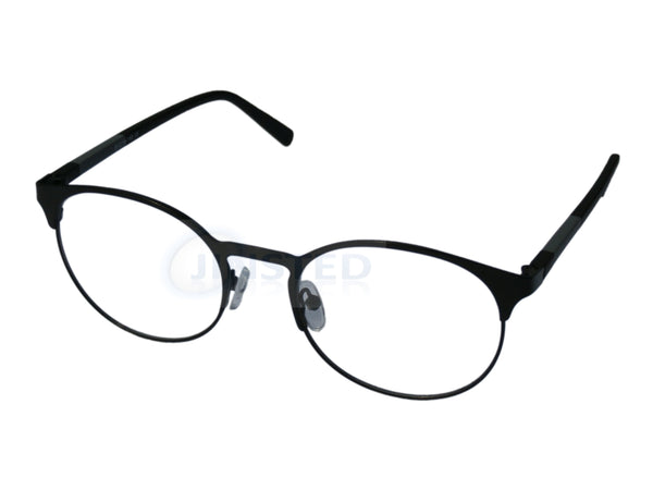 Black High Quality Luxury Swiss Designed Round Glasses Frames FR009 Jinsted