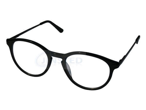 High Quality Luxury Swiss Designed Black Round Glasses Frames.  FR011 Jinsted