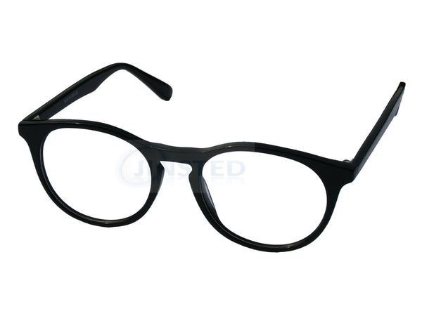 Glasses Frames, Premium Luxury High Quality Black Swiss Designed Glasses Round Frames, Jinsted