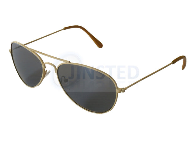 Tinted Lens Yellow Frame Aviator Childrens Sunglasses KA007 Jinsted