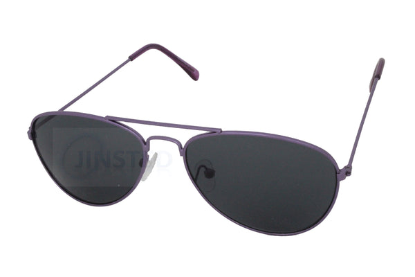 High Quality Childrens Sunglasses Tinted Lens Purple Aviator Frame - Jinsted