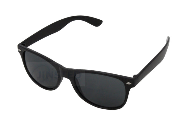 Childrens Black Frame Wayfarer Sunglasses Black Tinted Lens KR004 Jinsted