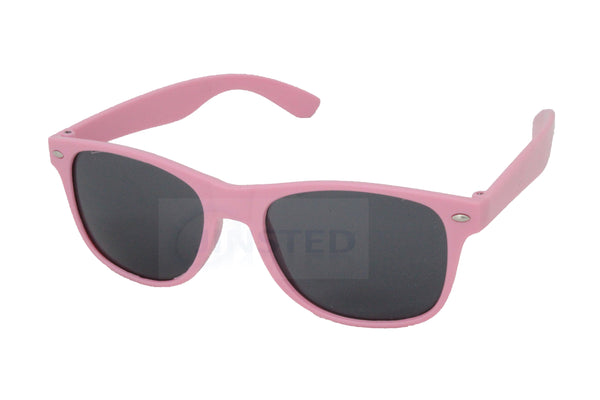 Childrens Pink Frame Wayfarer Sunglasses Black Tinted Lens KR005 Jinsted