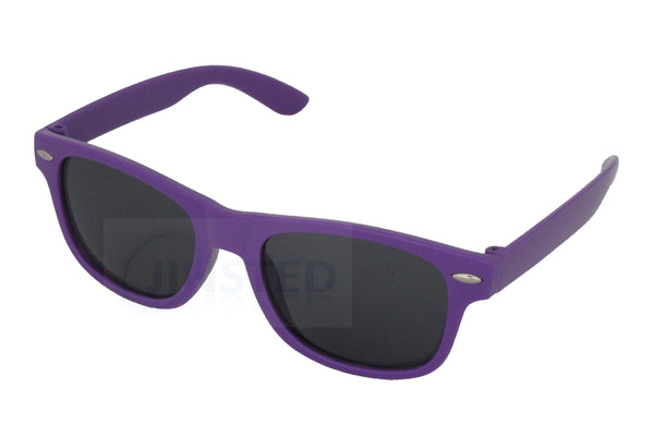 Childrens Purple Frame Sunglasses Black Tinted Lens