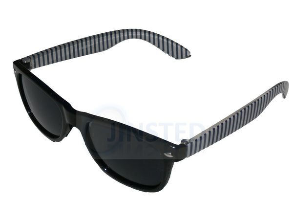 Childrens High Quality Black Frame Wayfarer Sunglasses Black Tinted Lens