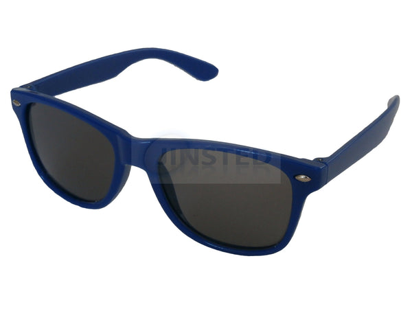 Childrens Blue Frame Wayfarer Sunglasses Black Tinted Lens KR011 Jinsted