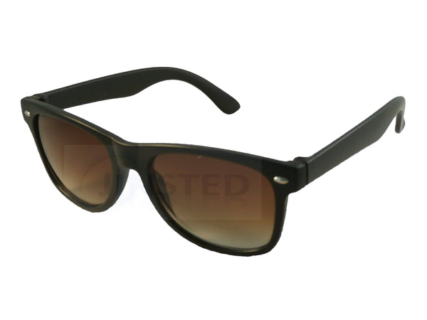 Childrens Black Frame Sunglasses Brown Gradient Lens