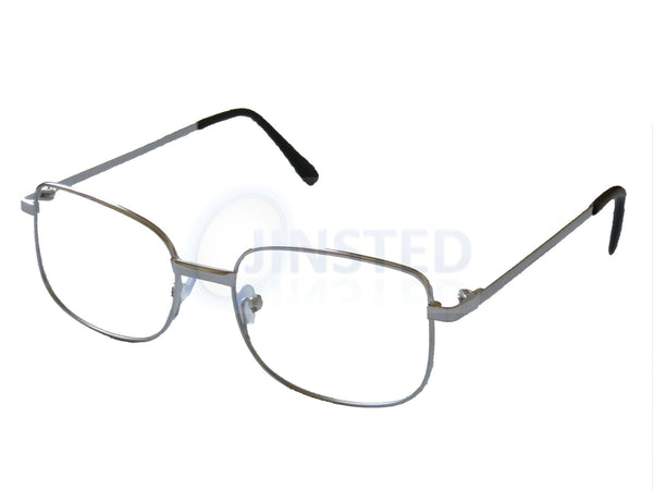 Silver Adult Reading Glasses. Unisex Spectacles RG005 Jinsted