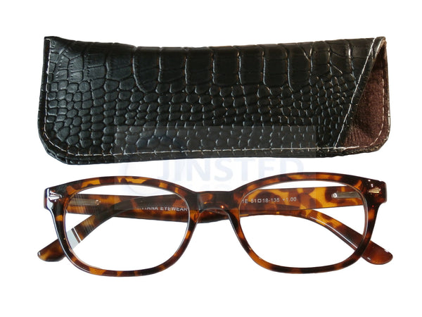 Adult Reading Glasses, Adult High Quality Swiss Design Leopard Print Reading Glasses, Jinsted