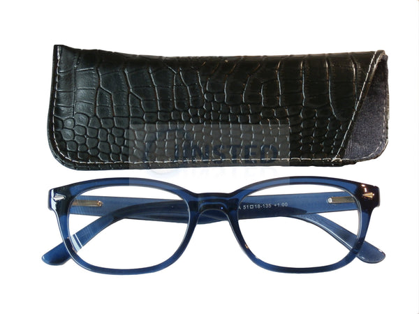 Adult Reading Glasses, Adult High Quality Swiss Design Blue Reading Glasses, Jinsted
