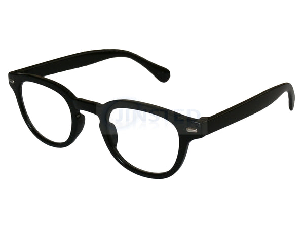 Black Wayfarer Reading Glasses. Round Frame Unisex Spectacles RG038 Jinsted