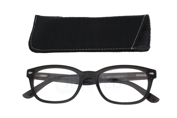 Adult High Quality Swiss Design Grey Reading Glasses - Jinsted