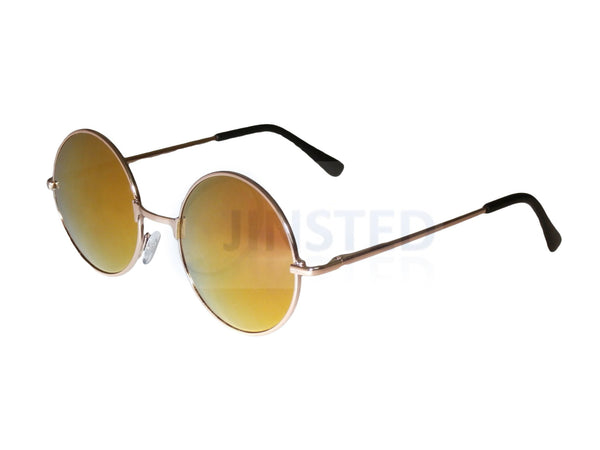 Red Gold Mirrored Teashades Sunglasses with Gold Frame SP004 Jinsted