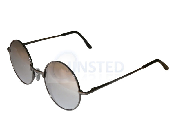 Adult Sunglasses, Silver Mirrored Teashades Sunglasses with Silver Frame, Jinsted