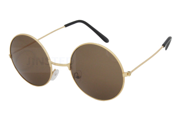 Brown Teashades Sunglasses with Gold Frame SP010 Jinsted