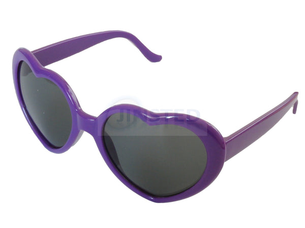 Sunglasses, Teenager / Small Adult Purple Lolita Heart Shaped Sunglasses, Jinsted